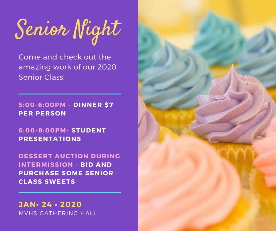 Senior night flyer