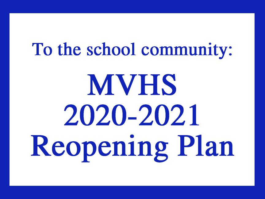 Reopening Plan MVHS