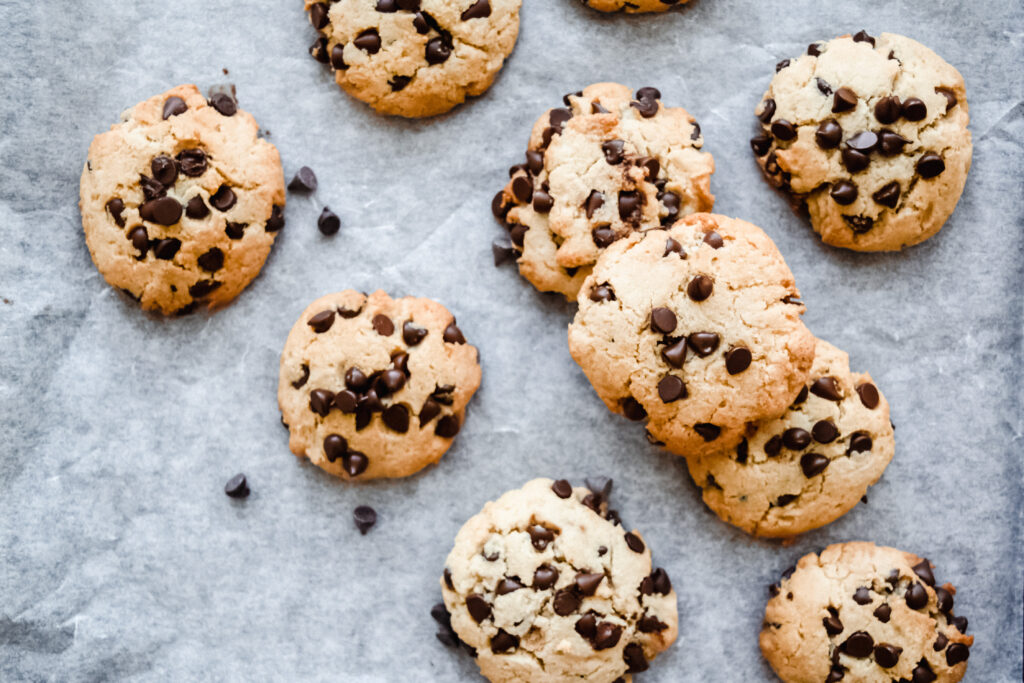 One Bowl Almond Flour Soft Baked Chocolate Chip Cookies