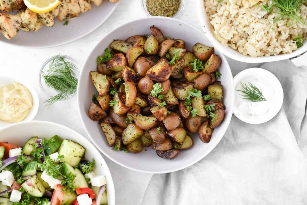 Greek Roasted Red Potatoes