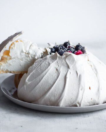 Maple Berry Pavlova
