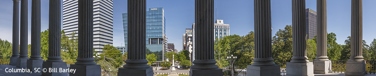 SC State House Porch Panorama 3