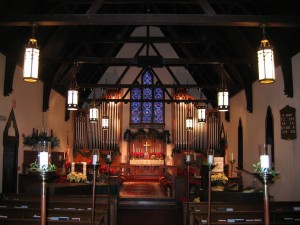 Our Remodeled Nave Decorated for Christmas