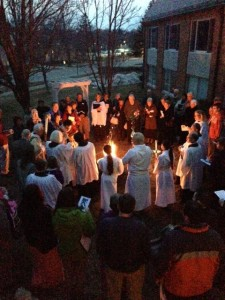 The Blessing of New Fire at the Great Vigil of Easter