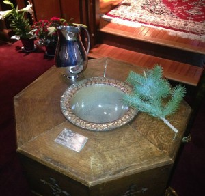 Our Historic Baptismal Font