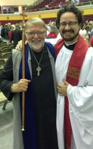 One of our vergers, Chuck Wibert, with Father Cramer