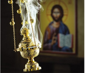 Incense with an Icon of Christ