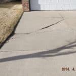 Sunken driveway
