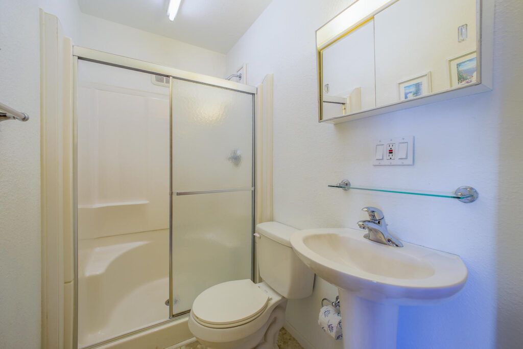 Ground level shared bathroom outside Gameroom
