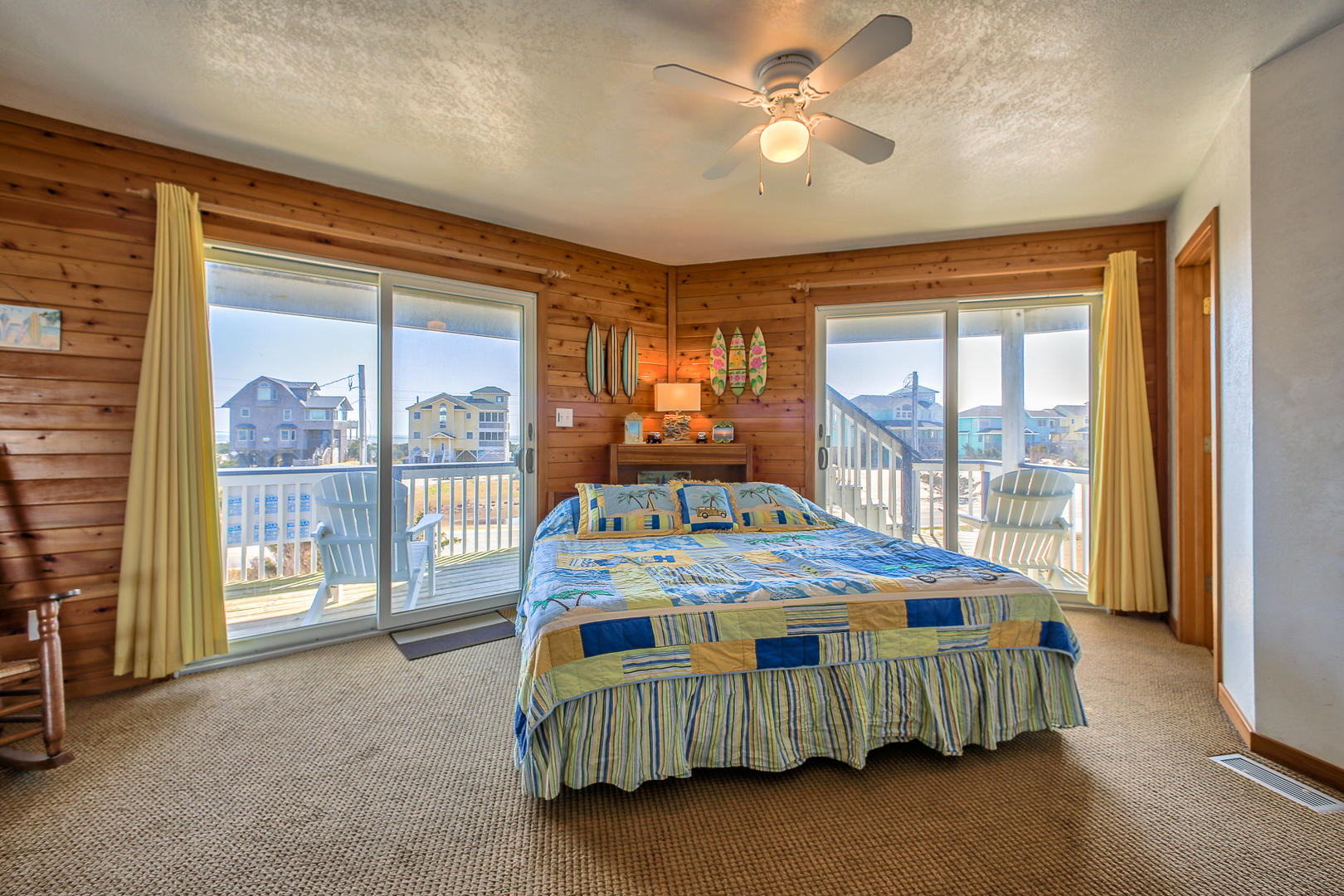 Middle level Master Bedroom #1 with King bed and private bath