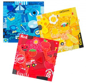 Tot Art Start Tots Collage by Color projects