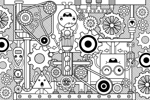 Mechanical Coloring Page