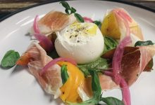 Burrata & Prosciutto with Walnut Pesto