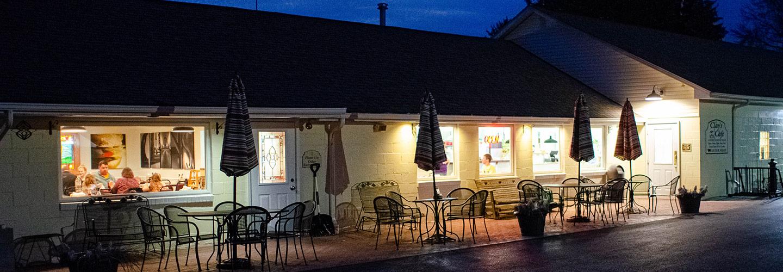 Clay's Cafe exterior night