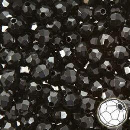 ALL AMOUNTS Black Glitter Pony Beads 9x6mm
