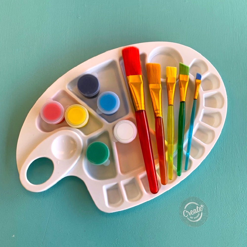 Painting Kit for kids to go from Create Art Studio