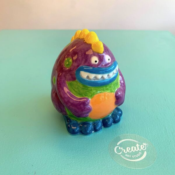 Create Art Studio Ceramics Painting at home Spike Monster painted