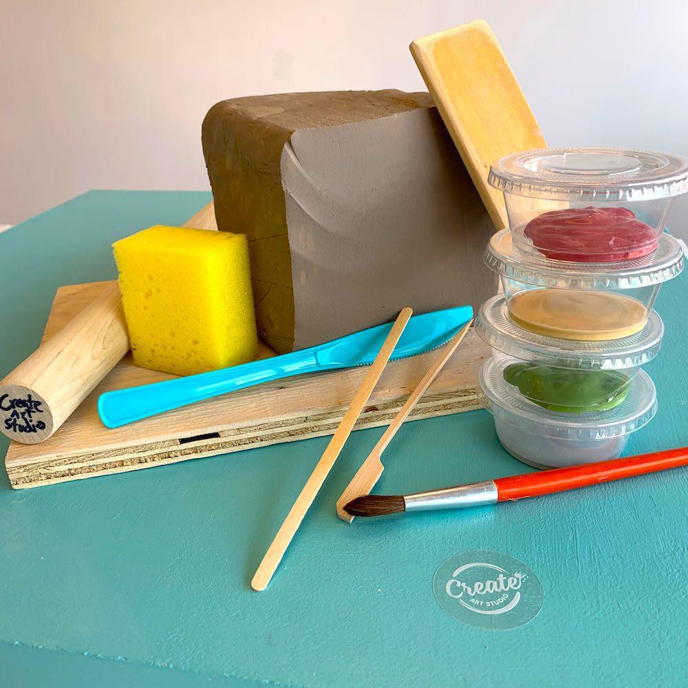 Create Art Studio Stoneware Clay at home all inclusive kit