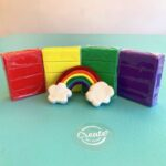 Rainbow Art sculpture kit with sculpey and step by step instructions
