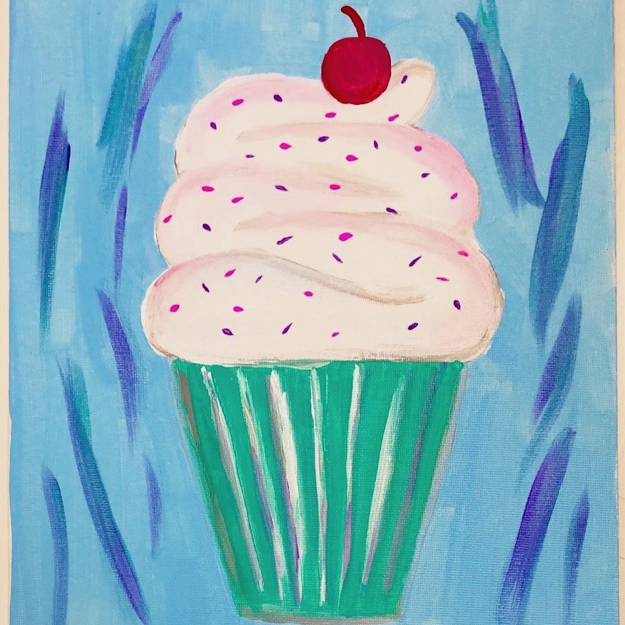 Create Art Studio Online Virtual Birthday Party for kids to paint along