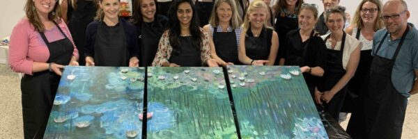 Create Art Studio Team Building Corporate Painting event Team Holiday Event