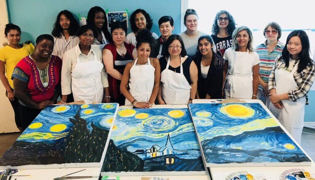 Create Art Studio Team Building Van Gogh Starry Night