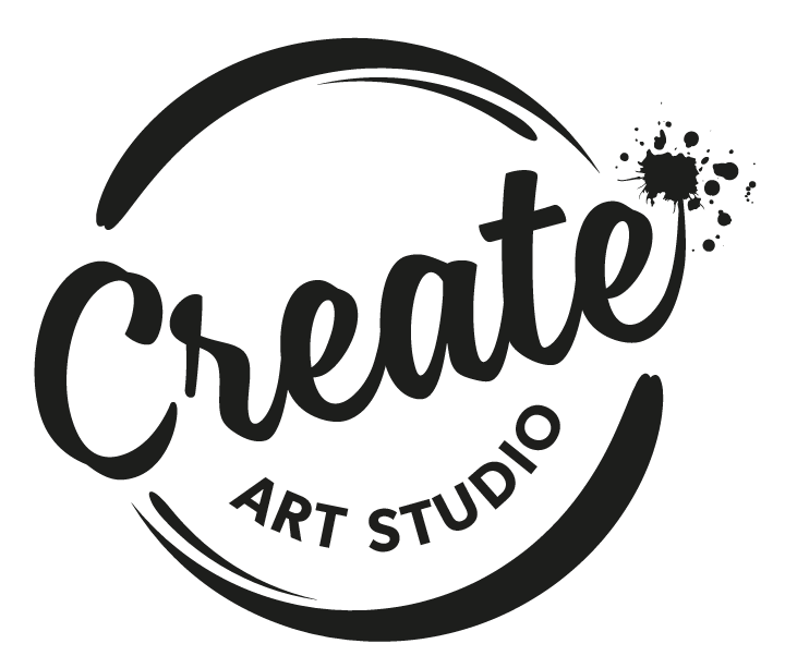 Create Art Studio Logo Black