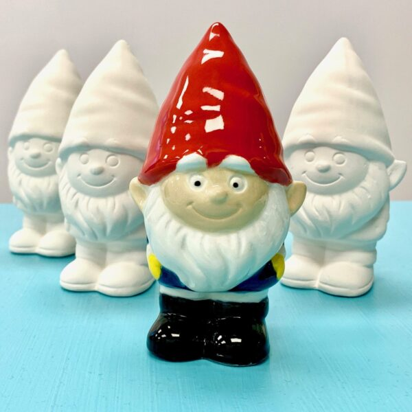 Ceramic Studio pottery gnomes for painting drop in Create Art Studio