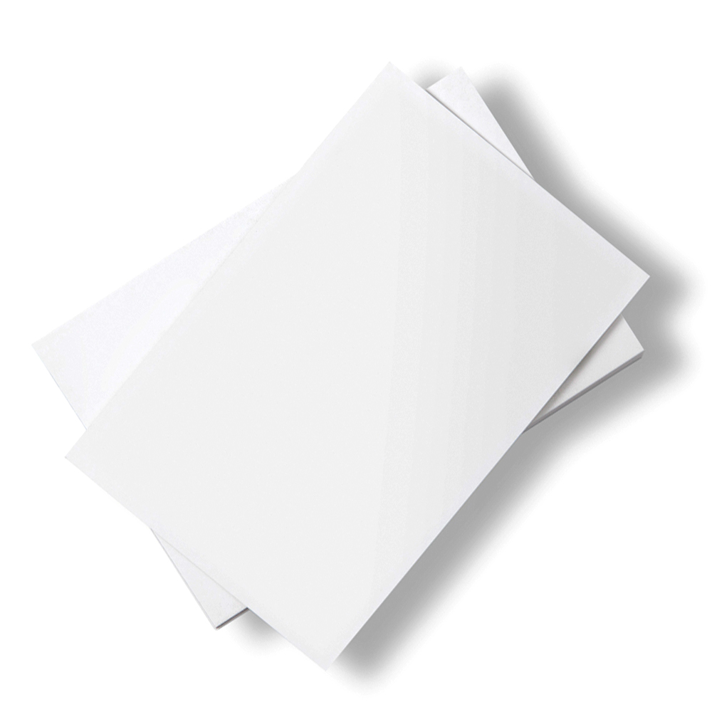 Stacks of white paper