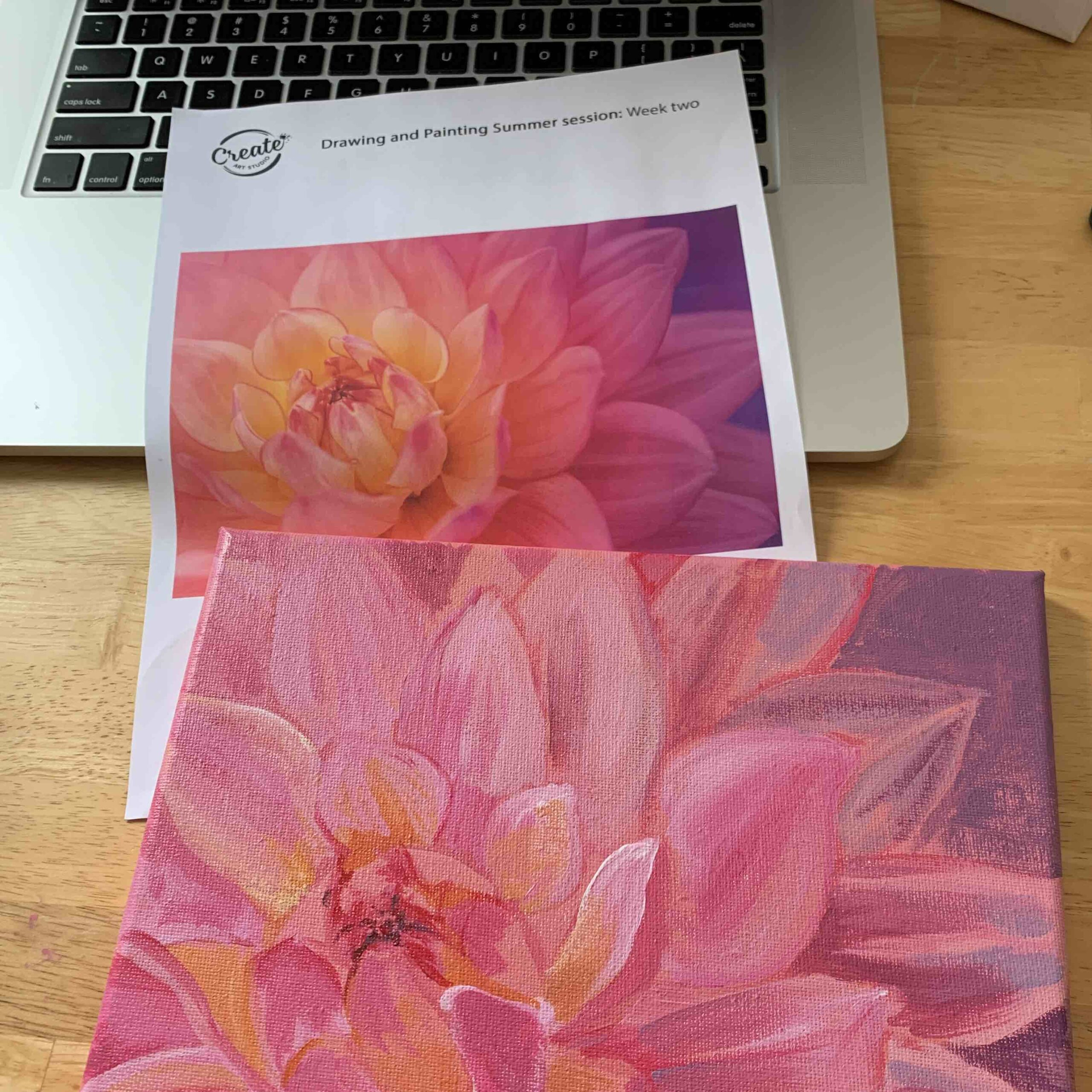 Create Art Studio Adult Painting Class online learning for adults art class online Canada