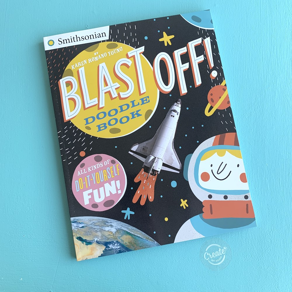 Create Art Studio Blast Off Activity Book Front Cover
