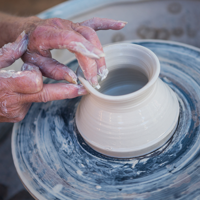 Create Art Studio clay classes with wheel and hand-built pottery