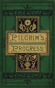 Cover of antique edition of Pilgrim's Progress by John Bunyan