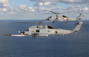 Hellfire helicopter firing