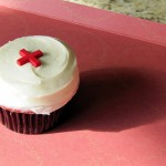 Mmmm, mmm, Red Cross cupcakes!