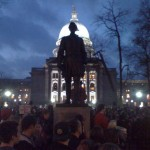 Madsion, WI protest at night