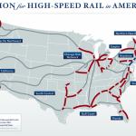 Plan USA high speed rail map