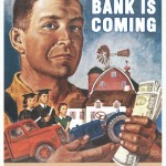 "poster ""Your Bank is Coming"""