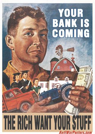 """poster """"Your Bank is Coming"""""""
