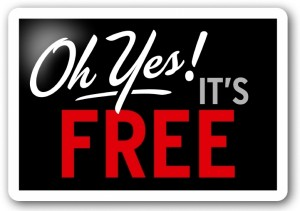 Oh yes, it's free sign