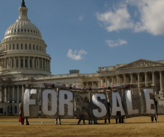 """US Capitol with """"For Sale"""" sign"""