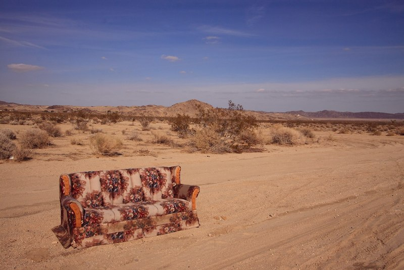 Couch in desert