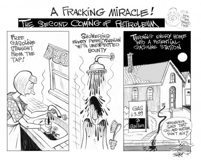 Fracking Cartoon