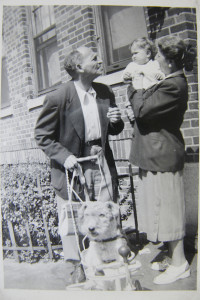 Author as infant with grandparents.