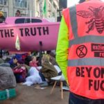 Extinction Rebellion pink sailboat