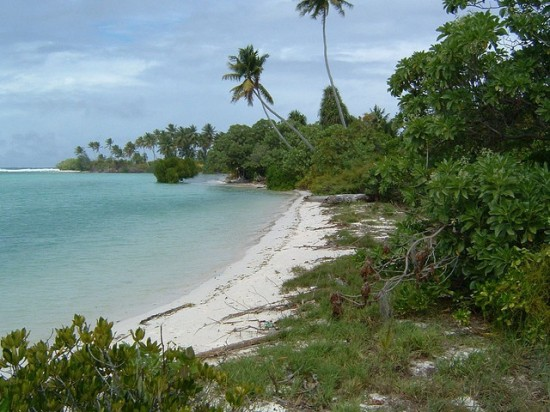 beach in Kiribati