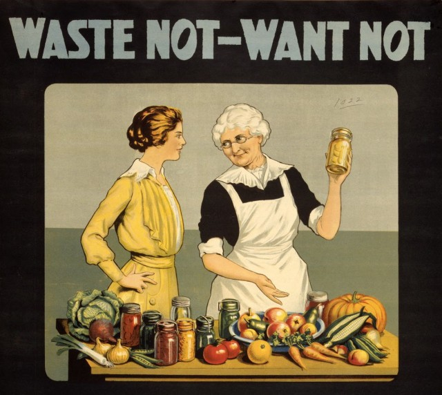 Waste not want not WWI poster