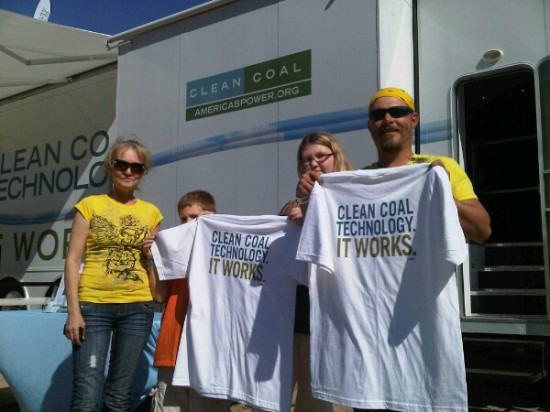 people with clean coal T shirts
