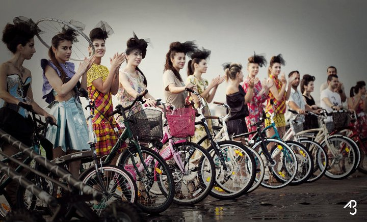 ladies on bikes