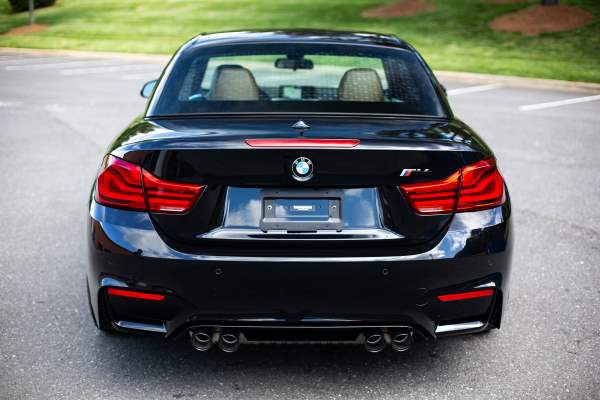BMW M4 Car Cleaning Rear View